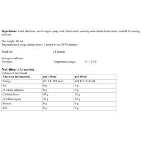 Dextro Energy Liquid Sport Ernæring Cherry + Caffeine 60ml grå